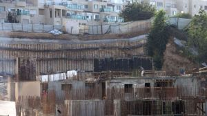A construction site at the illegal Israeli settlement of Gilo in East al-Quds (Jerusalem) (file photo)