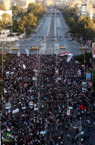 Anti-Morsi demonstrators stage a protest outside the presidential palace in Cairo December 7, 2012 (Reuters / Mohamed Abd El Ghany)