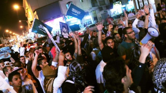 Saudis protesters during an anti-regime rally (file photo)
