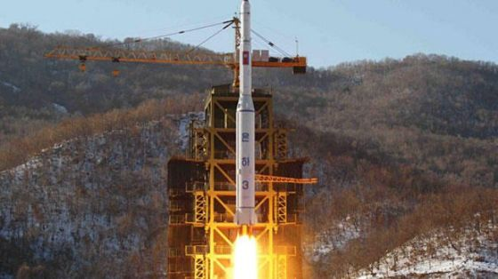 File photo shows North Korean rocket Unha-3, carrying the satellite Kwangmyongsong-3 Unit 2, lifting off from it launching pad in North Pyongan Province on December 12, 2012.