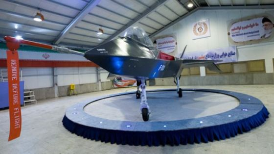 Iran's domestically-designed and developed fighter jet Qaher-313 (shown) was unveiled in Tehran on February 2, 2013.