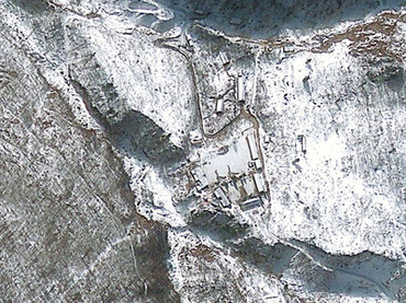 "This GeoEye Satellite Image captured January 23, 2013 shows the Punggye-ri nuclear test facility in North Korea. South Korea has detected an ""artificial earthquake"" in North Korea, Yonhap news agency reported on February 12, 2013, suggesting Pyongyang may have gone ahead with an expected nuclear test. (AFP Photo)"