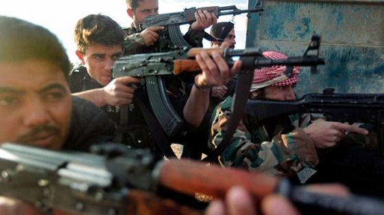 Soldiers of the Free Syrian Army. (AFP Photo / Ricardo Garcia Vilanova)