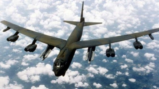 A US B-52 bomber (file photo)