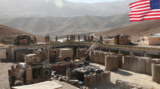 US forces are seen building a base in Parwan Province, Afghanistan, in 2010.