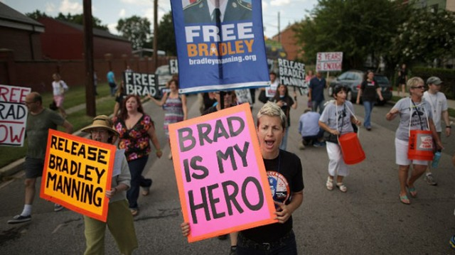 Supporters of U.S. Army Private First Class Bradley Manning (AFP Photo / Chip Somodevilla)