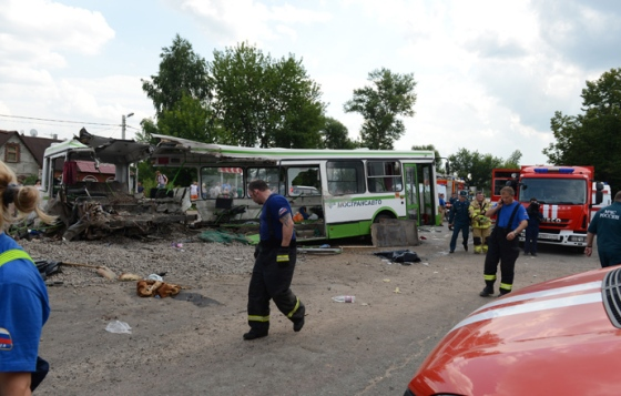 18 dead as passenger bus collides with truck in Moscow