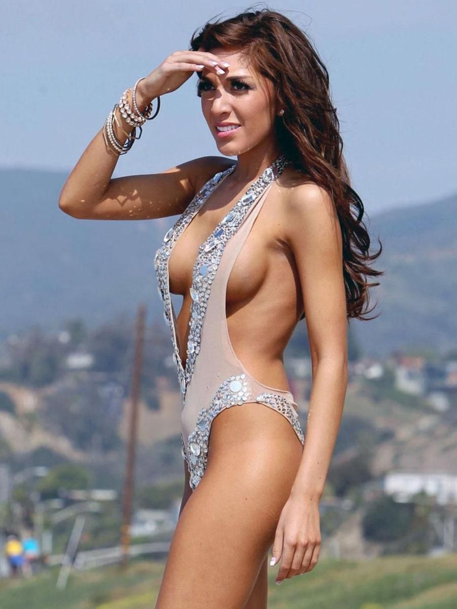 Farrah Abraham puts her surgically enhanced figure on display once again